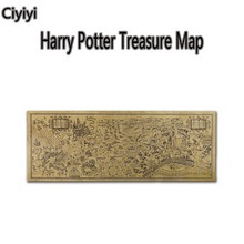 1 pc 72*26cm Hot Movie Harry Potter Treasure Map Toy Cartoon Harry Potter Magic World Map Jouet Retro Decorative Painting Toy(China)