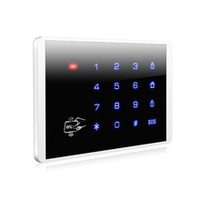 K16 RFID Touch Keypad For KERUI Wireless PSTN GSM Alarm Systems Burglar Access Control System Wireless Password Keypad