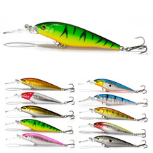 1pcs Fishing Lures Minnow Trap Jerkbait Hard Bait 3D Eyes Crankbaits Glowing Sea Fish Supplies 11cm 10.5g Pesca Tool Accessories(China)