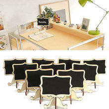 Hot New 10Pcs Mini Wooden Wedding Blackboard Chalkboard Number Sign Label Message Table