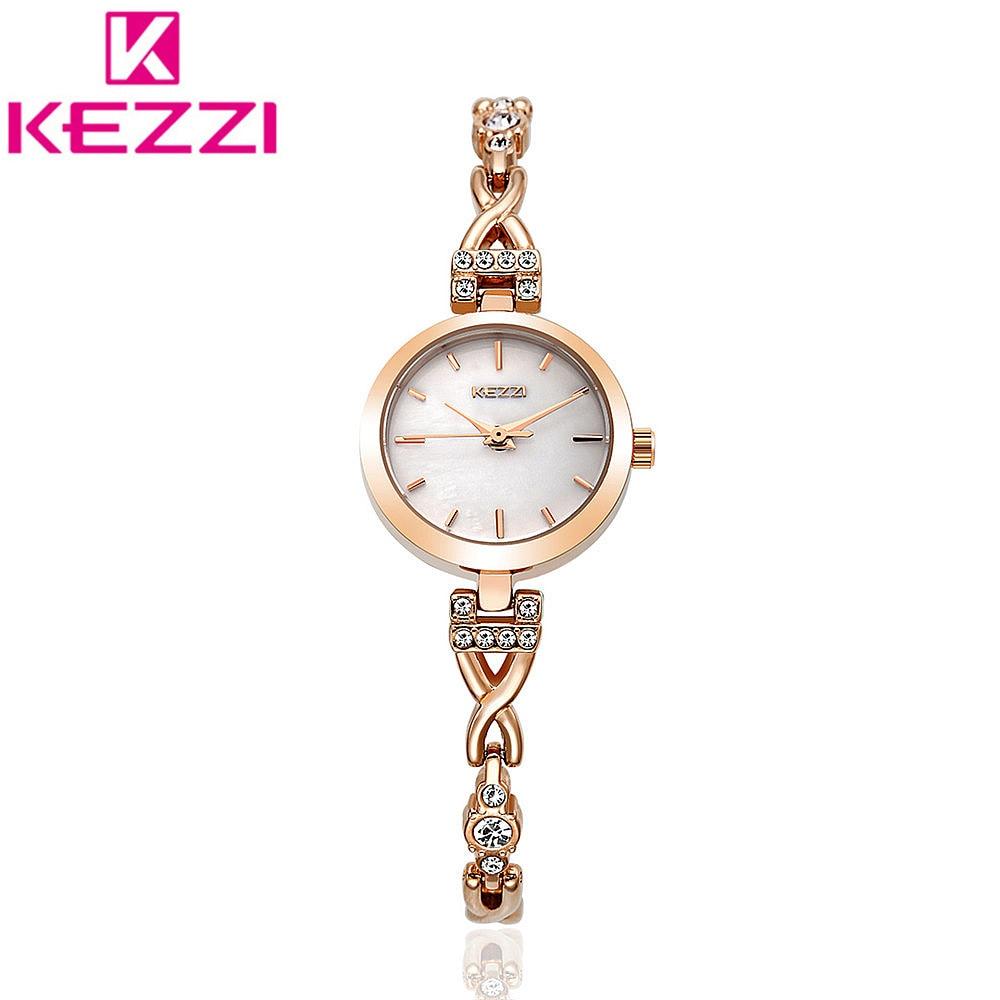 2017 KEZZI Official Authorize Women Bracelet Watch Alloy Wrist Watches Fashion Casual Women Watch Gift Quartz Watch KZ128<br><br>Aliexpress