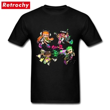 Splatoon 2 T-Shirt Tall Guy Authentic Inklings Gaming Tees O Neck Cheap Brand T Shirt Valentines Day(China)