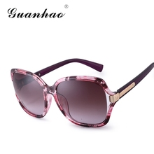 GUANHAO 2017 Women Sunglasses HD polarized Lens Fashion Brand Design Hinge Designer&UV Protection HD view Sun Glasses For Women