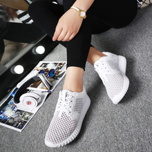 Bjakin Summer Running shoes for Women White Mesh Sneakers Female Breathable Mesh Sport Shoes Gym Shoes Couple Cheap Size 35-44
