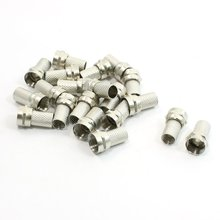 IMC Hot 20Pcs CCTV RG6 F-Type Twist-On Coax Coaxial Cable RF Connector Male
