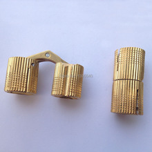 New 2pcs 16mm Brass Furniture Cabinet Hinge Cylindrical Hidden Concealed to Cabinet Door Hinges Table Hinge 8-16mm H000-16(China)