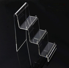 3 Tier Clear Acrylic Wallet Display Rack Stand Holder Mobile Phone Display Stand phone holder rack