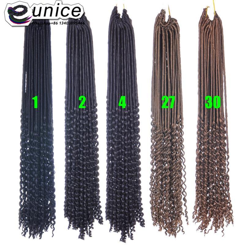 Goddess Faux Locs Crochet Hair Curly Ends Dreadlocks hair extensions  (46)