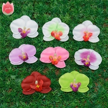 10pcs Silk Butterfly Orchid Artificial Flower Head For Wedding Car Home Decoration Orchs Mariage Flores Cymbidium Handmade Plant