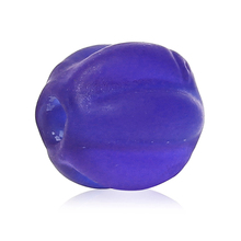 "DoreenBeads Lampwork Glass Beads Pumpkin Purple Frosted About 8mm( 3/8"") x 8mm( 3/8""), Hole: Approx 2mm, 2 PCs(China)"