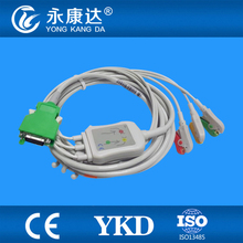 3 PCS/Lot Nihon Kohden 20 pins ECG cable with leadwires 3 leads from Chinese manufacturers(China)