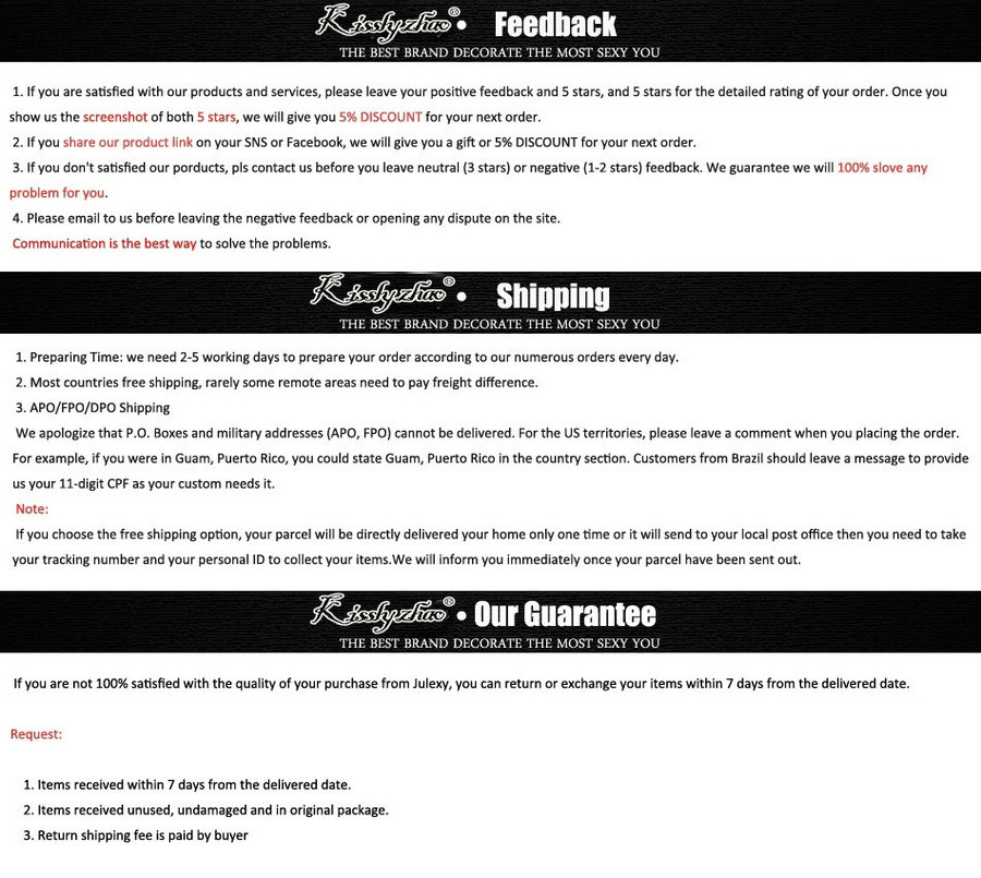 feedback payment