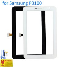 ALANGDUO for Samsung Galaxy Tab 2 7.0 P3100 3G Tablet Touch Screen Digitizer Glass Panel Replacement Touchscreen Black White