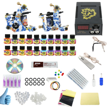 ITATOO Tattoo Machine Kit 2 Guns Professional Tattoo Kit Complete with Power Supply Clipr Cord Tattoo Supplies TK1000014