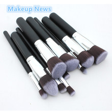 10Pcs/set Pro Makeup Blush Eyeshadow Blending Set Concealer Cosmetic Make Up Brushes Tool Eyeliner Lip Brushes makeup base