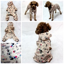Cute little girl pattern small dog clothes raincoat Super waterproof fabric Light dog rain coat four legs hoodie pet raincoats