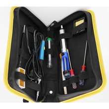 60w 220V Adjustable Temperature Soldering Iron Kit+5 Tips+Desoldering Pump+Soldering Iron Stand +Tweezers+ Solder Wire