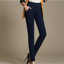 Plus Size Women Winter Pants High Waist Outer Wear Fashion Thick Warm Charm Noble Elegant Casual Down Cotton Pants Trousers K198