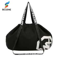 2017 Outdoor Travel Handbag Canvas Gym Bag Yoga Mat Bag Drawstring Sports Bags Large Capacity Holdall Sporting Women Fitness Bag(China)