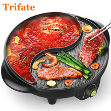 3200A Multifunctional 1600W Electric Pan Grill BBQ Grill Raclette Grill Electric Hotpot With Grill Pan