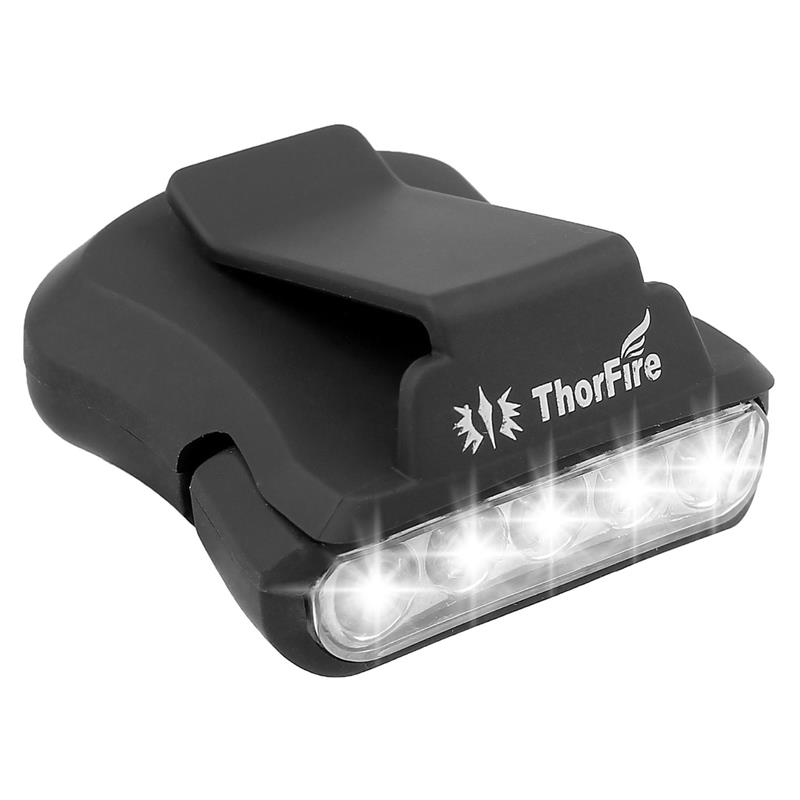 ThorFire 5 LED Headlamp Cap Hat Light Bicycle light Rotatable Clip-on Hat Light Hands Free head light for Camping Fishing