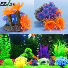 EZLIFE New Artificial Resin Coral for Underwater Ornament Aquarium Fish Tank Decoration ZZS6295(China)
