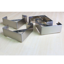 4 pc L shape stainless steel legs furniture sofa cabinet metal feet 2""