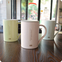 bpa-free 180ml Hot Selling milk of NATURAL Green Wheat Straw PLASTIC BIODEGRADABLE tea cup coffee mug with handle