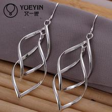 Accessories New Design silver plated jewelry Female's earrings Fashion brincos Earhook Accessories Trendy Ornaments(China)