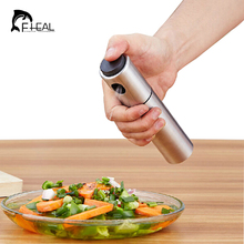 FHEAL Portable Practical Stainless Steel Oil Injector Olive Spraying Oil Bottle Sprayer Pot Cookware Kitchen Tools