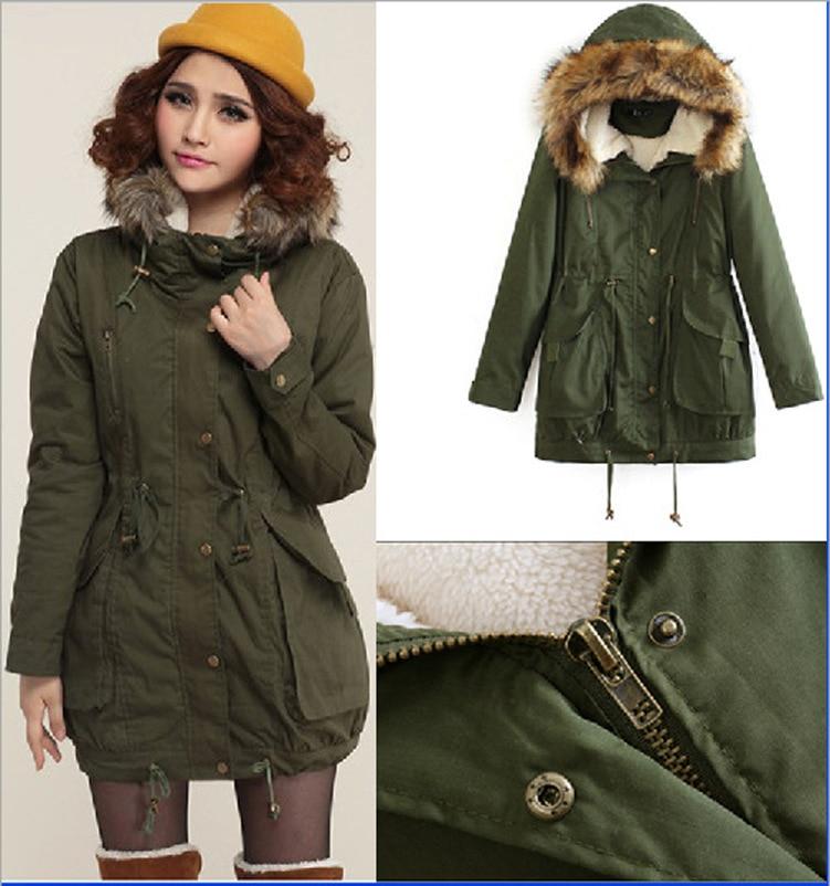 New 2016 Women Jacket Warm Solid Hooded winter Coat fashion Slim Fur Collar Jackets hot sale outwear Îäåæäà è àêñåññóàðû<br><br>