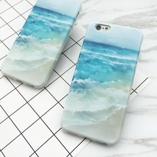 New Arrival Sea beach & Blue Sea Water Hard IMD Thin Anti Shock Mobile Phone Cases For iPhone7 7 Plus 6 6S Plus YC2100