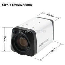ELP 1080P AHD All in one camera 30X 3-90mm zoom lens box Camera WDR Auto IRIS DSP color video Camera digital Surveillance Camera(China)