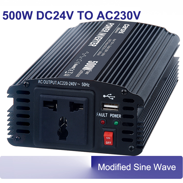 500w power inverter auto car 50/60hz modified sine wave DC 24V AC 220V 230V inverters CE-EMC/LVD, RoHS, E-mark approval<br><br>Aliexpress