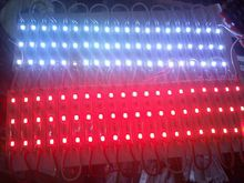 1000pcs/lot 5630 3 LED Modules white warmwhite blue green red module Waterproof IP68 DC12V shipping free