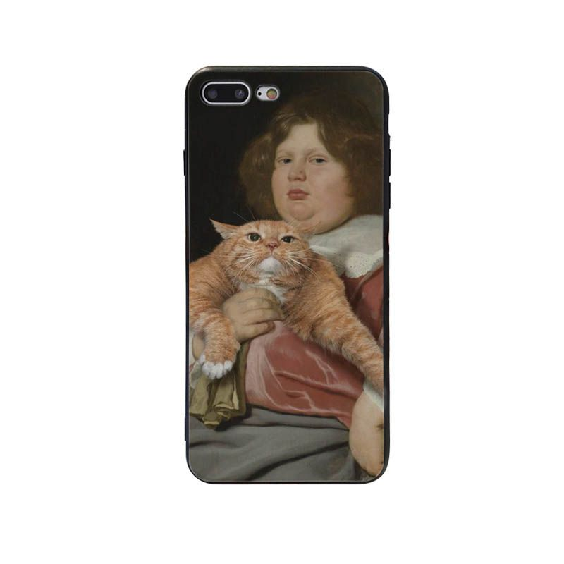 Funny Leonardo da Vinci Mona Lisa Pat Cat Art Aesthetics painting Phone Case