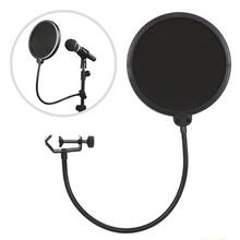360 degree flexible gooseneck holder Double Layer Studio Speaking Recording Microphone Mic Wind Screen Mask Shield Pop Filter(China)