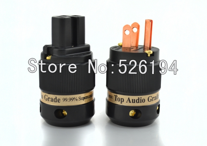 NEW CMC Ti2000-8055 Pure copper US version power plugs for DIY power cable one pair<br>