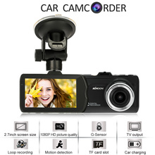 Kkmoon 2.7inch 1080P FHD Car Camera Vehicle DVR Cam Recorder G-sensor Seamless loop-cycle recording Motion detection