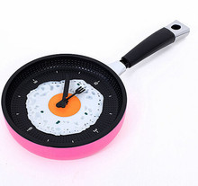 12pcs/lot EMS fast Creative watch / Le pot Fried Eggs pot clock / living room bedroom wall clock watch fashion personality(China)