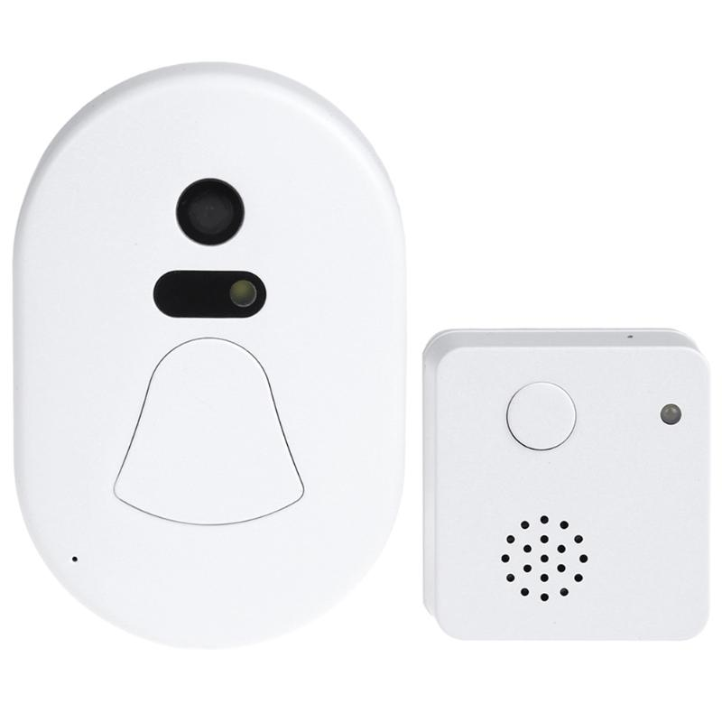 Wireless WIFI Doorbell Video Door Phone Auto Photo Cloud Storage Video Doorbell  Alarm Remote Control wifi door bell(EU Plug)<br>