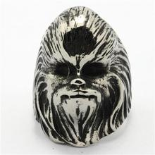 Size 8 to Size 15 Mens 316L Stainless Steel Punk Gothic Cool Star Wars Ring Newest Design(China)