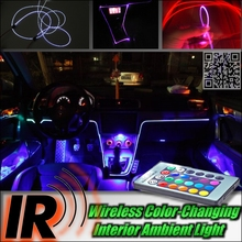 Wireless IR Control Car Interior Ambient 16 Color changing Light / DIY Instrument Dashboard Light For Audi A6 S6 RS6 C6 C7