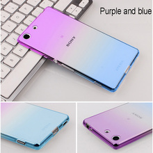 Mobile Phone Case Cover For Sony M4 M5 M 4 Aqua E2303 E2333 E2353 M 5 E5633 E5643 E5663 Dual TPU Silicon Ultrathin Transparent