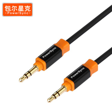 PowerSync AUX 3.5 Audio Cable Square head design Male to Male Cable Gold Plated 3.5mm Jack Stereo for Car Speaker MP3 Headphone(China)