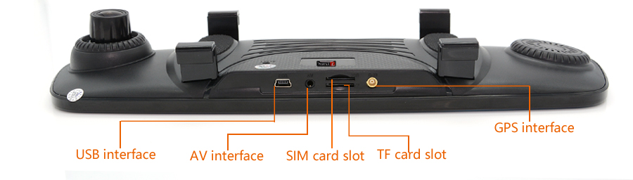 "Junsun 4G ADAS Car DVR Camera Digital Video recorder mirror 7.86"" Android 5.1 with two cameras dash cam Registrar black box 16GB 51"