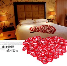 300pcs Red Heart I LOVE YOU Wedding Petals Party Favor Hand Throwing Flowers Wedding Party Birthday Venue Room Decoration