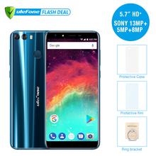 "Ulefone MIX 2 4G Mobile Phone 5.7"" HD+ MTK6737 Quad Core Android 7.0 2GB RAM 16GB ROM Fingerprint 13MP Dual Camera Cellphone(China)"