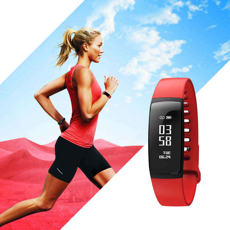 V07 Smart Band Wristband Band Heart Rate Blood Pressure Pedomet Bracelet Fitness V07S For iOS Android Phone PK Mi Band 2 Fitbits 3