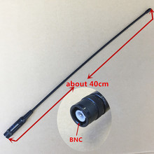 honghuismart NA771 BNC connector antenna UHF VHF Dual Band  for ICOM IC-V82,IC-V8,IC-V80 Kenwood TK308,TK208 etc walkie talkie